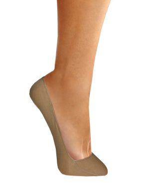 Pack de 2 Calcetines salva-pies invisible de algodón