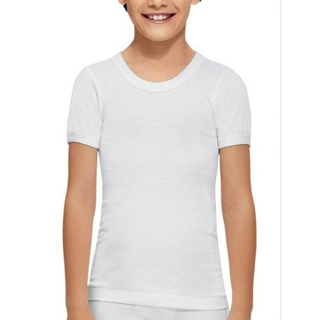 Camiseta manga corta niño algodón Abanderado.
