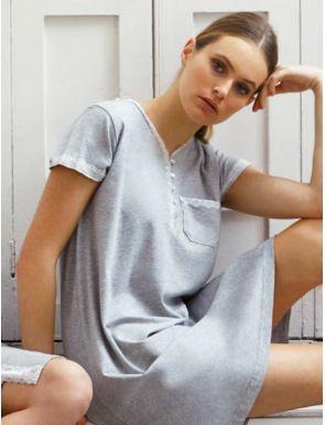 Camisa de dormir maternal màniga curta