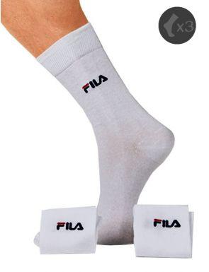 Lote 3 calcetines deportivos Fila de algodón