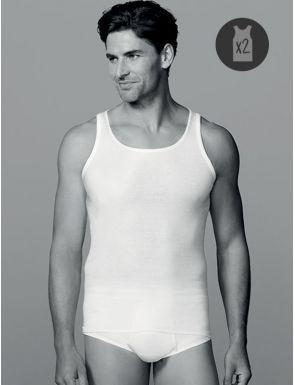 Camiseta tirantes canalé Ocean en algodón