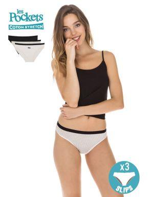 Calces Les Pockets Cotó B/N x3