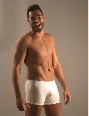 Boxer hombre algodón goma blanca