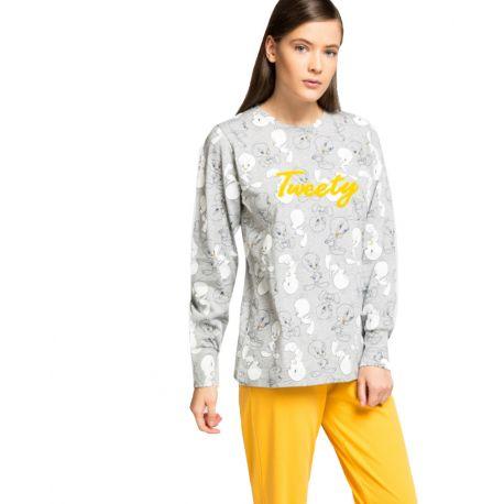 Pijama llarg per a dona de cotó Piolín