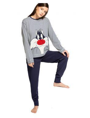 Pijama llarg ratlles Sylvester de Gisela