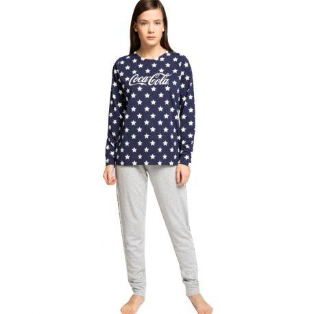 Pijama llarg estrelles Coca-Cola de Gisela