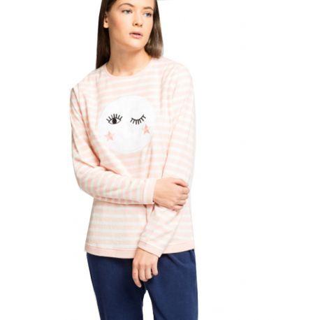 Pijama llarg micropolar lluna