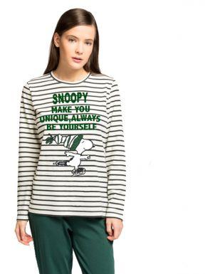 Pijama llarg ratlles Snoopy de Gisela
