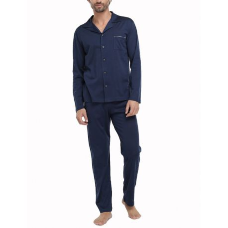 Pijama Fil d'Escòcia Blau Marí
