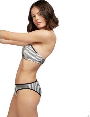 Top bikini bandeau ratlles de Gisela