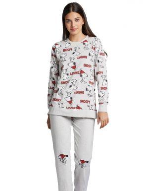Pijama de punt gris Snoopy