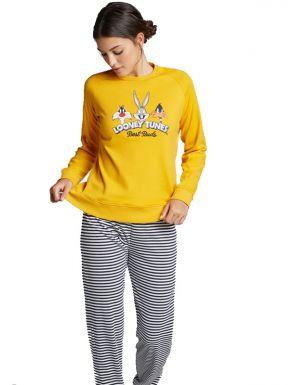 Pijama ratlles Looney Tunes per a dona