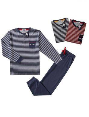 Pijama de la marca Tress en blau / vermell / gris, talles M / XXL